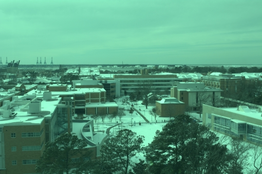 From the 9th floor of the BAL Building, a section of campus